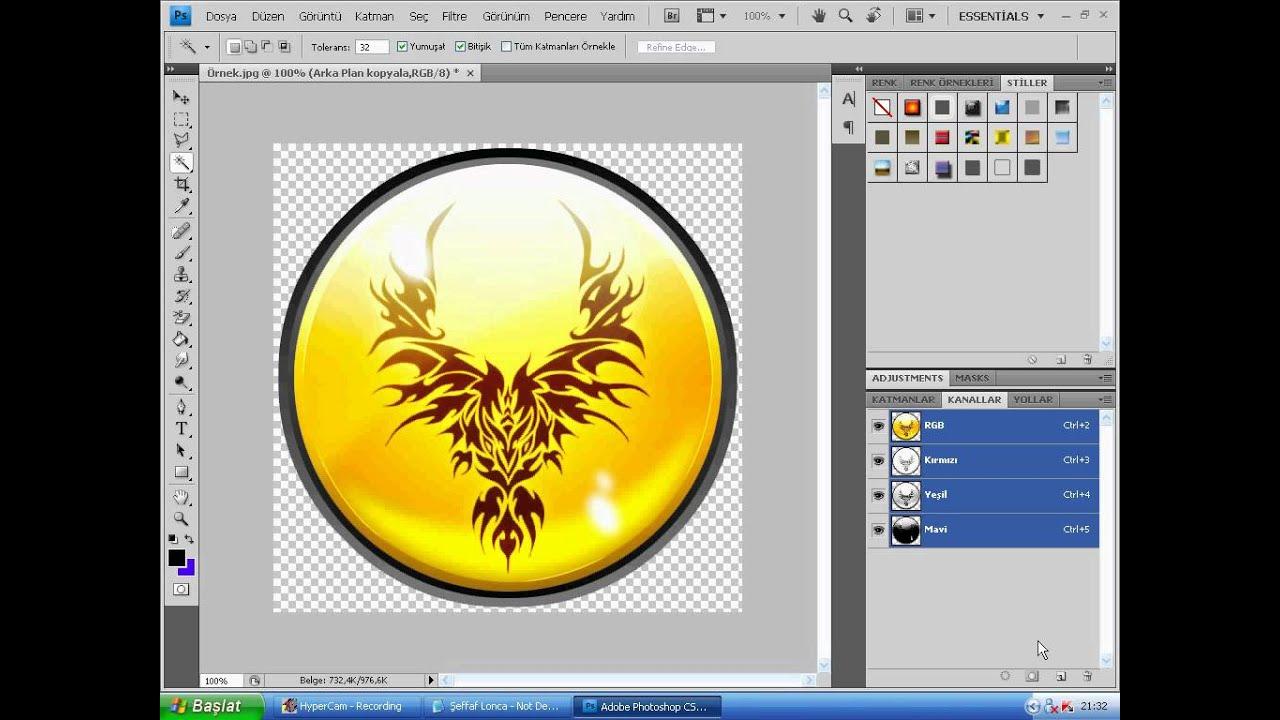 Şeffaf lonca logosu yapımı youtube