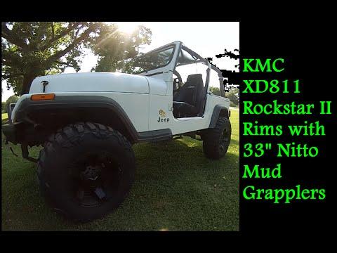 Jeep Wrangler YJ KMC XD811 Rockstar II Rims 33