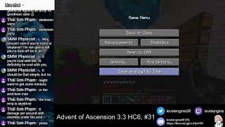 MINECRAFT Livestreams ~ Advent of Ascension 3.3 Hardcore ATTEMPT 6 (#31)
