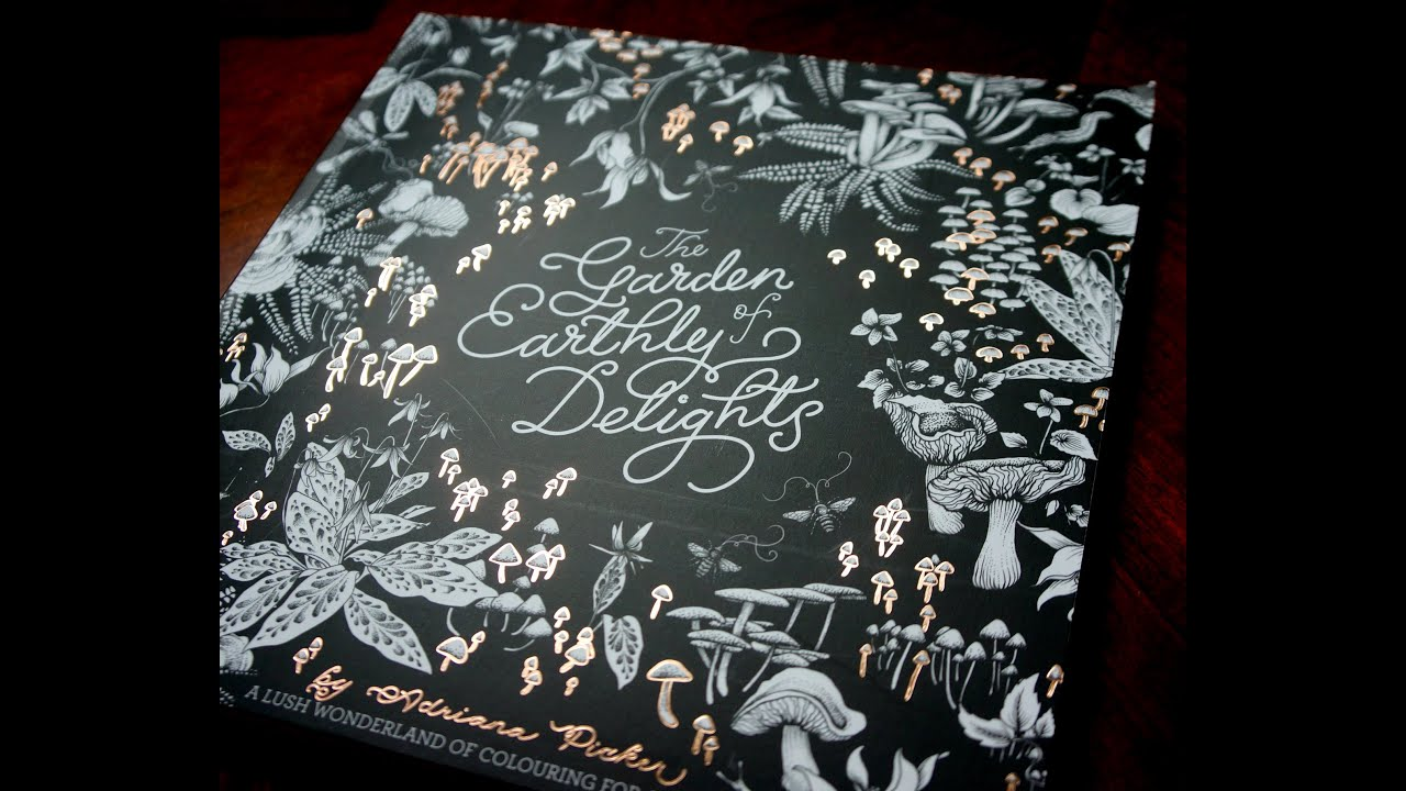 The Garden Of Earthly Delights Colouring Book Flipthrough Preview