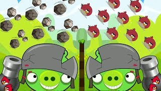 Angry Birds Cannon Birds 2 - HUGE CANNON FORCE MAXIMUM STONE TO BOSS PIGS!