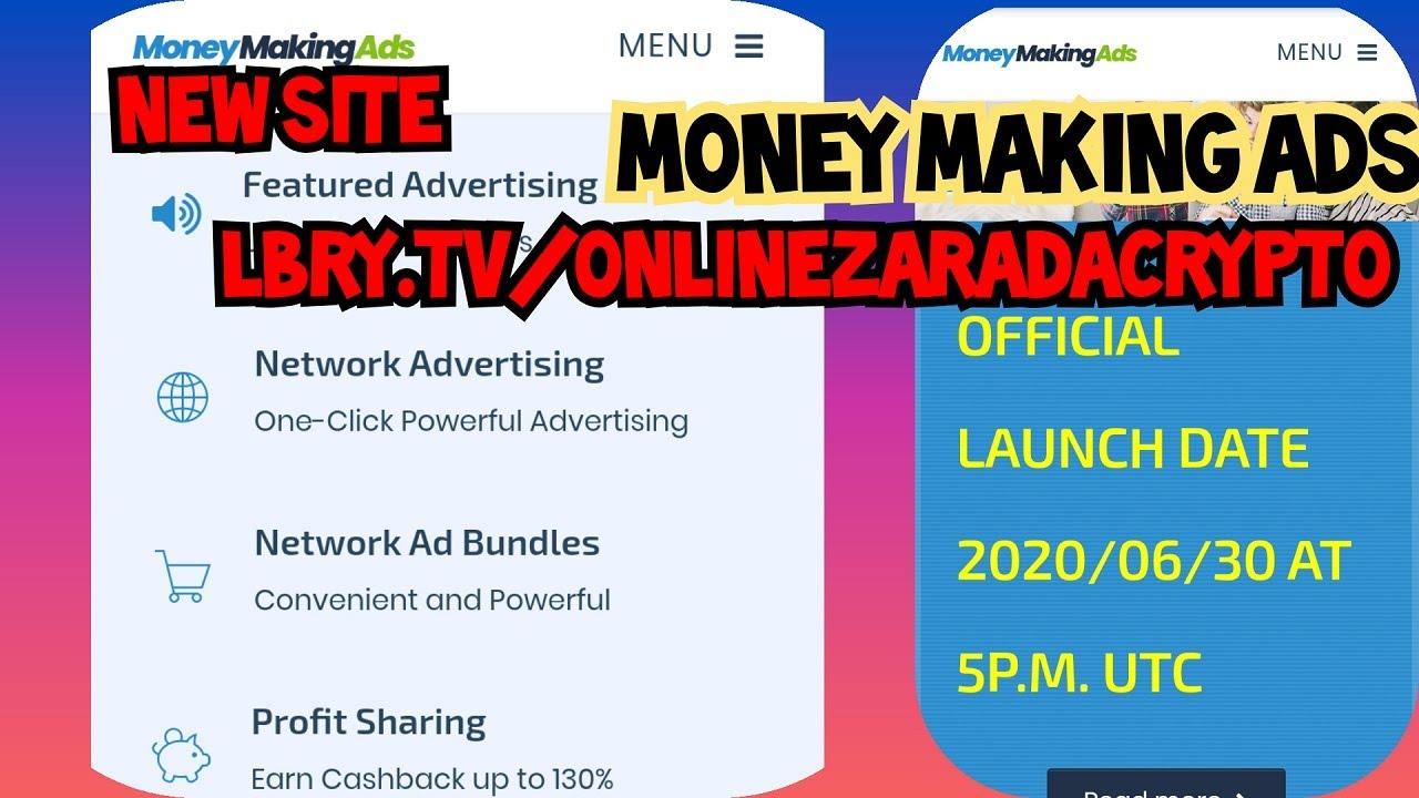NOVI sajt Money Making Ads u PRE-LAUNCH fazi i nova