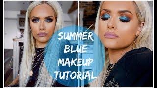 SUMMER BLUE EYE MAKEUP TUTORIAL | Jordan Bone