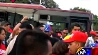 En video  así llegó Maduro al estado Cojedes al mando de un autobus Yutong