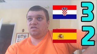 Croatia vs Spain(3-2) Jedvaj Game Winner Reaction! (2018-2019 UEFA Nations League)