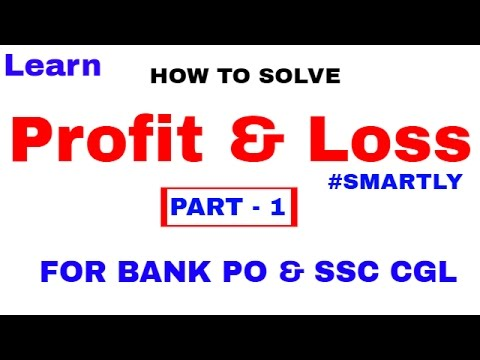 Profit and Loss Tricks  For Bank PO and SSC CGL [In Hindi] Part 1