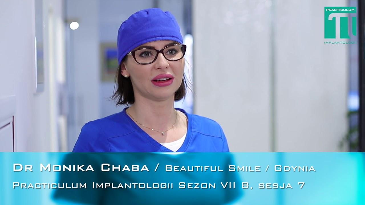 Dr Monika Chaba  na Practiculum Implantologii