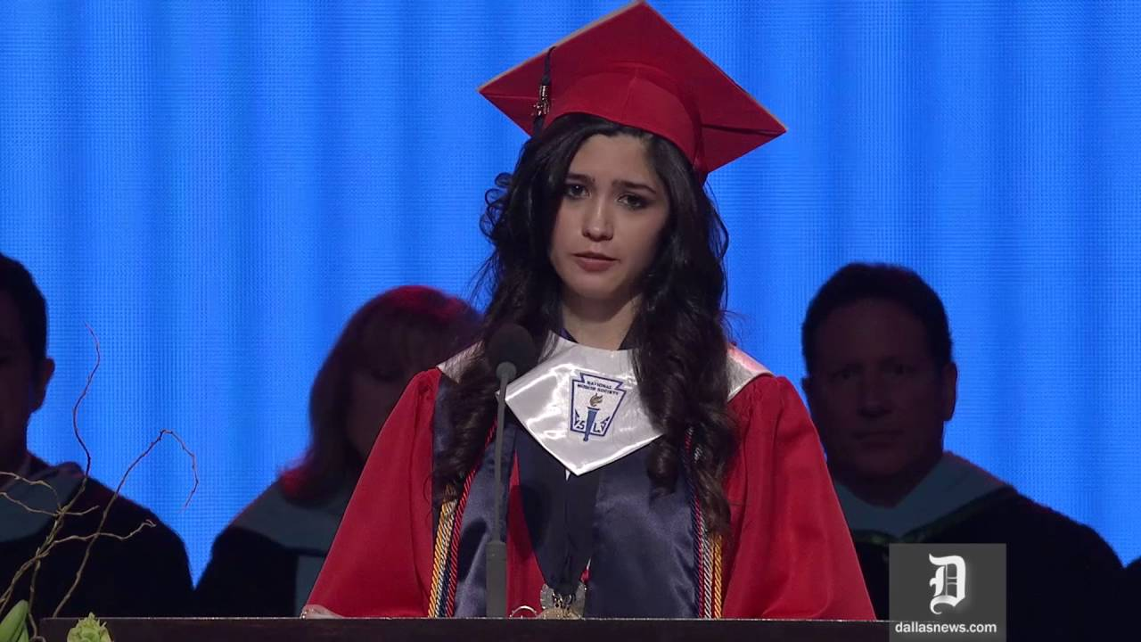 2fdcf6af14 McKinney Boyd valedictorian reveals unauthorized immigration status in  graduation speech - YouTube