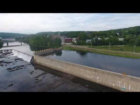 Drone flight over Livermore Falls Maine