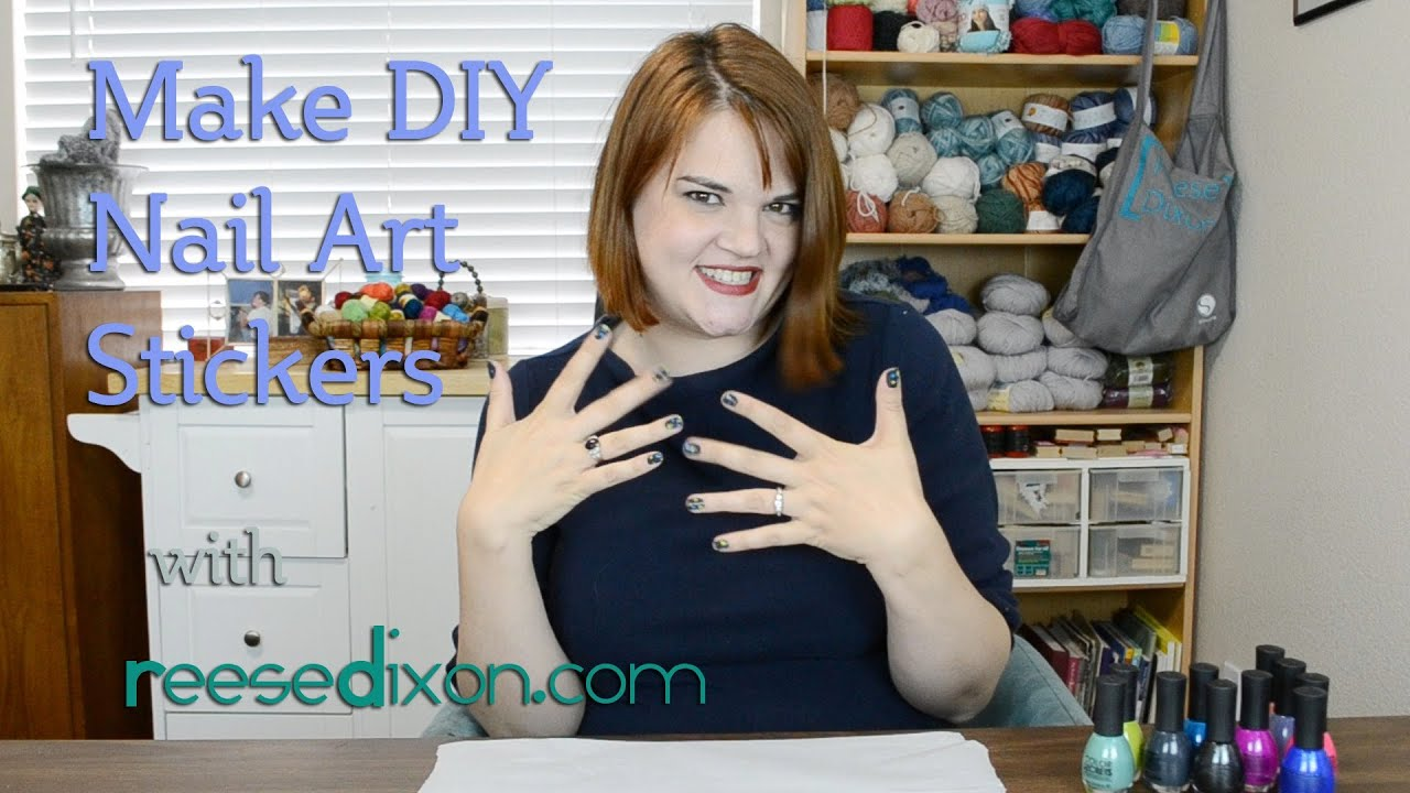 DIY Nail Stickers Make Your Own YouTube - How to make nail decals at home
