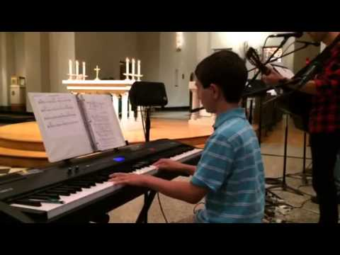 Joshua Playing Piano at Church (11yrs. old)