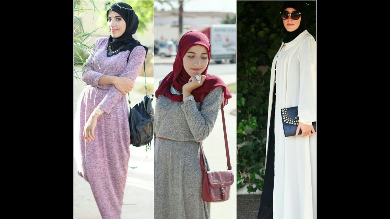 Fashion hijab maxi dress