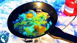 🐟 Как приготовить яичницу зимой на рыбалке вкусный рецепт готовим на природе.