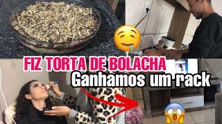 VLOG: RECEITA TORTA DE BOLACHA, FIZ MAQUIAGEM NA MINHA PRIMA E MAIS... 😍