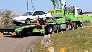 Démonstration du nouveau camion-grue Volvo Cormach des Etablissements Wibault
