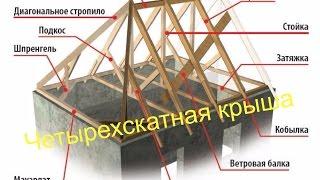 Четырехскатная крыша, моменты монтажа и правильность монтажа