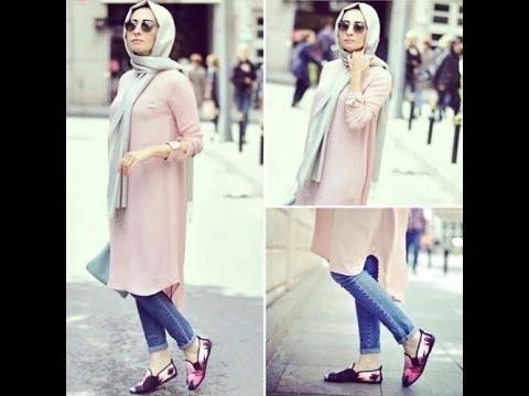 13cbc70fe موضة ملابس محجبات كاجوال 2016 casual hijab fashion style 6 - YouTube