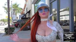Phoebe Price talks about all the stuff happening in charleston while shopping in Beverly Hills