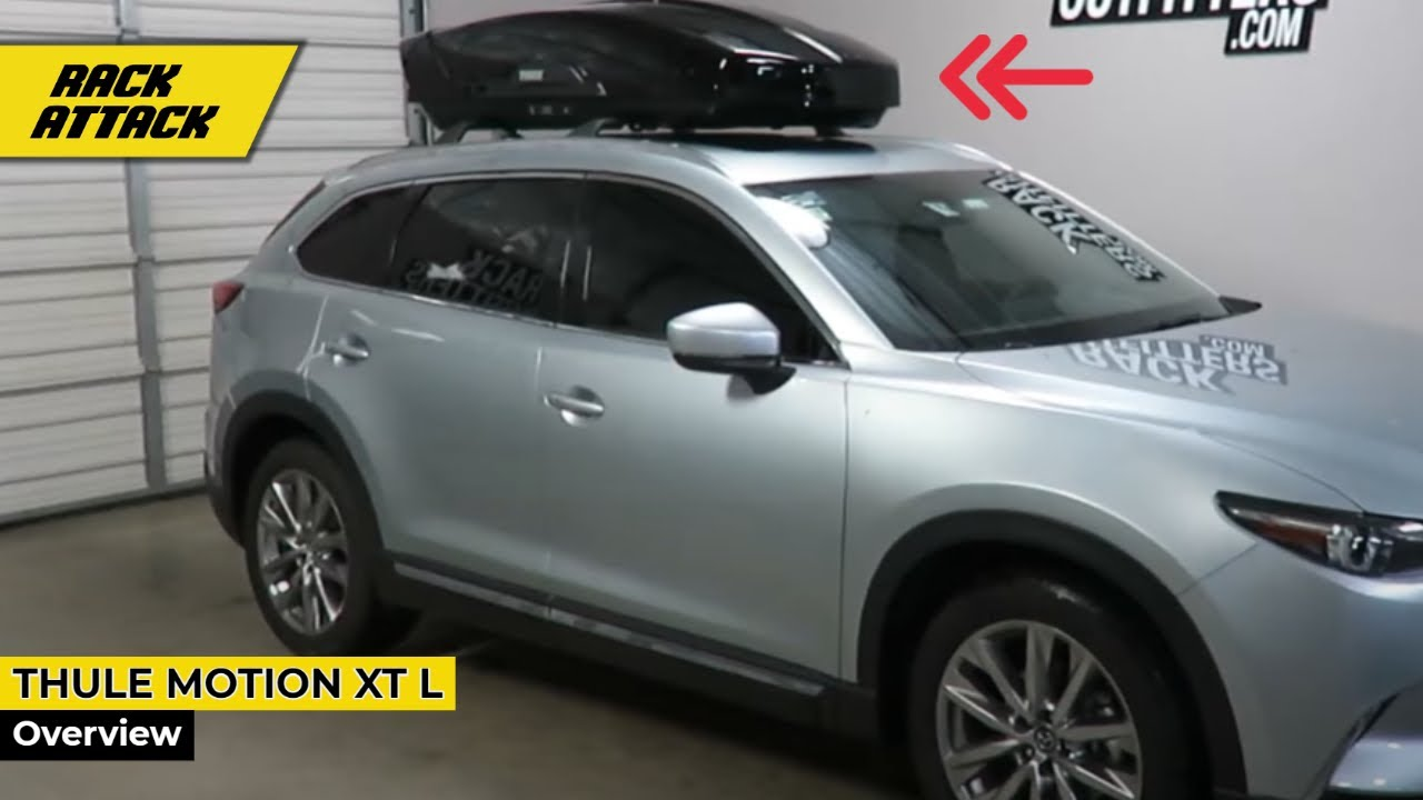 Thule 6297B Motion XT Large 16 CF Roof Top Cargo Box On Mazda CX 9. Rack  Outfitters