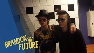 Brandon Future in the Ziggo Dome on stage / With Alex Roy