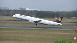 Take Off Lufthansa Airbus A321-131 D-AIRH vom Flughafen Berlin Tegel
