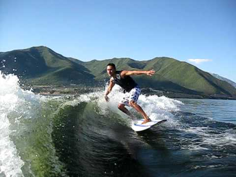 Wakesurfing Utah  - Outrageous Wave Shape and Curl