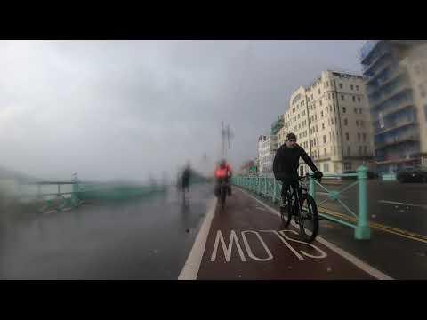 Brighton (England, UK) Seafront Winter Gravel Bike Ride (07/02/21)