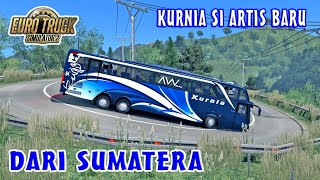 Baru Rilis Bus KURNIA SCANIA K410iB Langsung Trip Jalur Extreme Sumatera   ETS2 MOD INDONESIA