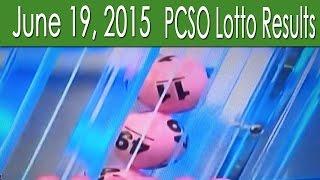 PCSO Lotto Results June 19, 2015 (6/58, 6/45, Swertres, 4D & EZ2)