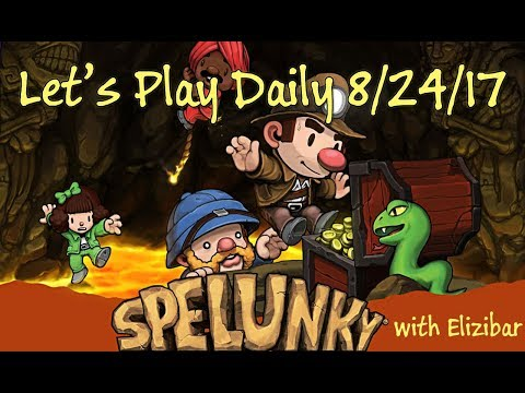 """Spelunky """"Off Screen"""" - Daily Challenge 8/24/17 - Let's Play"""