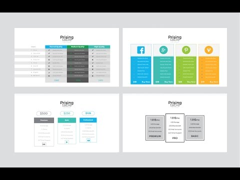 Pricing table powerpoint and keynote template youtube for Table design ppt