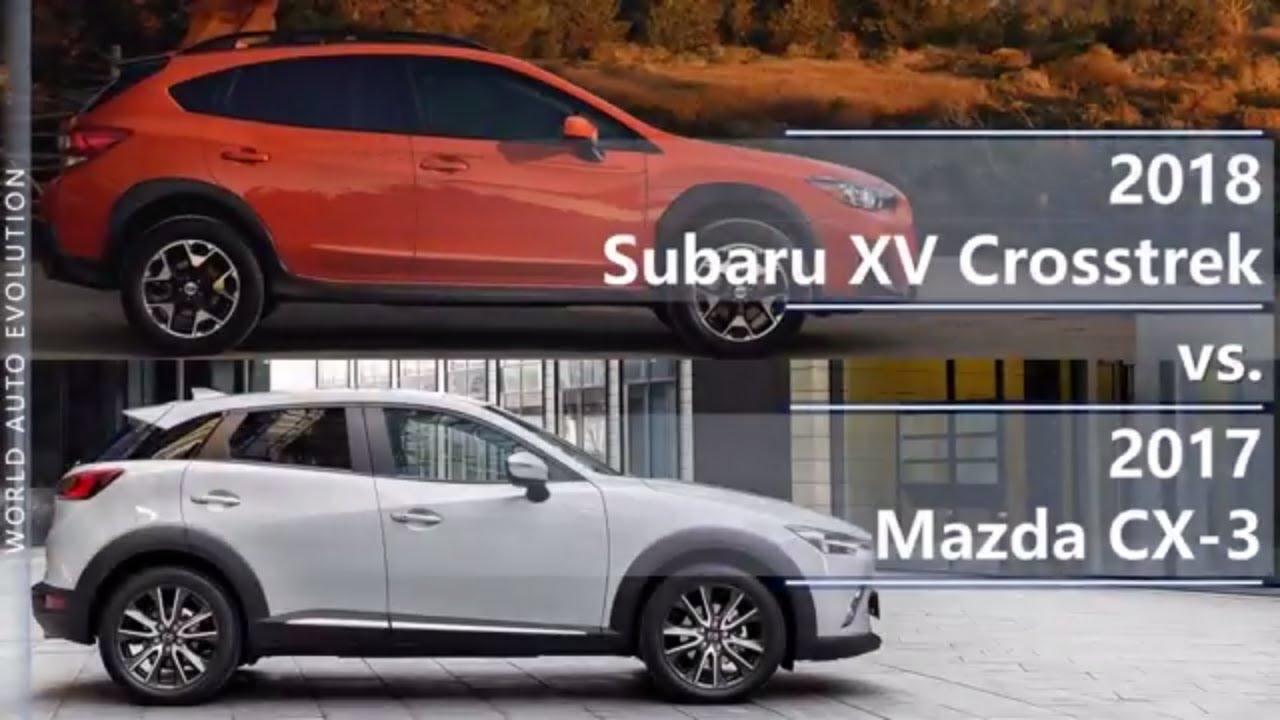 Mazda cx 3 vs subaru xv