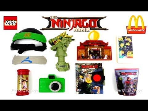 2017 FULL WORLD SET McDONALD'S LEGO NINJAGO MOVIE HAPPY ...