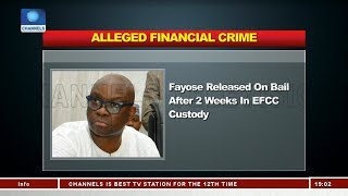 Political Round Up: Fayose Released On Bail After 2 Weeks In EFCC Custody |Politics Today|