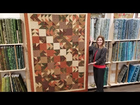 "Donna's FREE PATTERN ""Scrappy Flying Geese"" Quilt + Kaleidoscope Christmas Giveaway!"