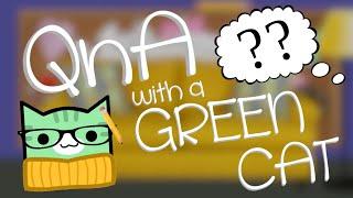 QnA WITH A GREEN CAT | Geometry Dash Juniper