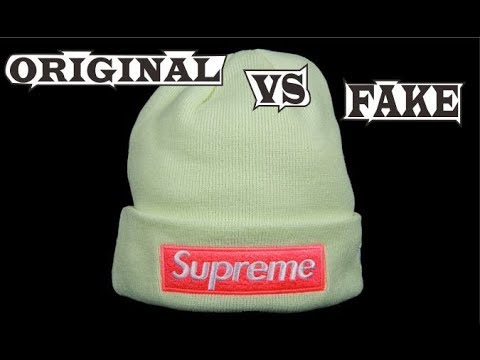 66c0b7539fa Supreme New Era Box Logo Beanie Pale Lime Original   Fake - YouTube