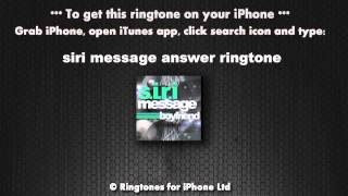 Siri Message from Your Boyfriend Ringtone