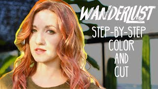 Step-by-step of Jenna's blonde to red Wanderlust Color and Cut