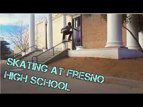 Skating at Fresno high school (Happy New Year)