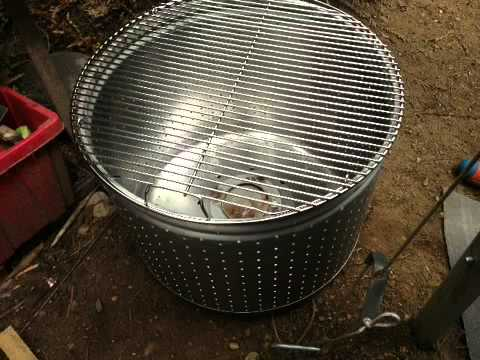 Stainless steel wash tub fire pits - YouTube