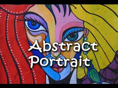 Abstract Cubist Portraits. Speed Painting: Marla.