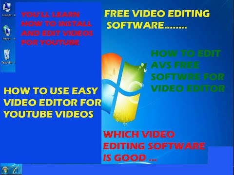 HOW TO INSTALL AND USE FREE VIDEO EDITOR FOR YOUTUBE VIDEOS!!