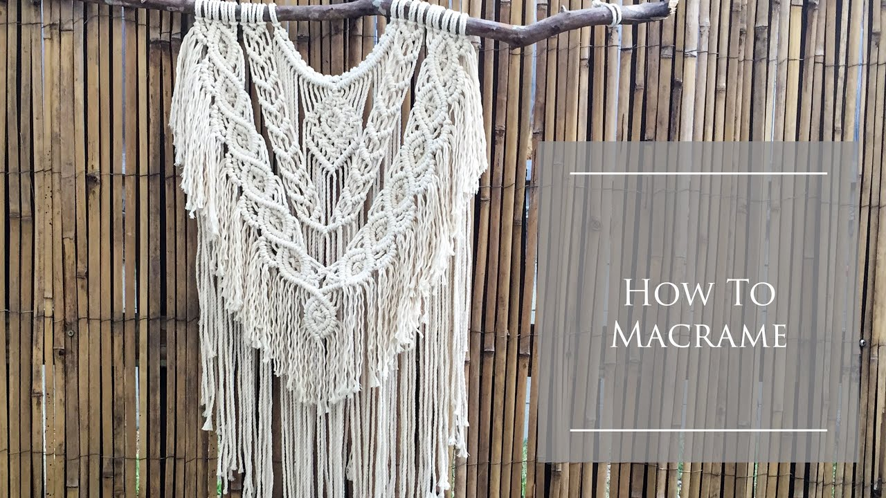 How to make Macrame Wall Hanging #5|| Macrame knots By TNARTNCRAFTS || DIY  Step by Step tutorials