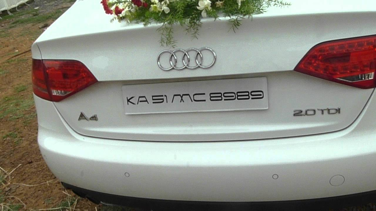 Audi A A Marriage Car YouTube - Audi car decoration