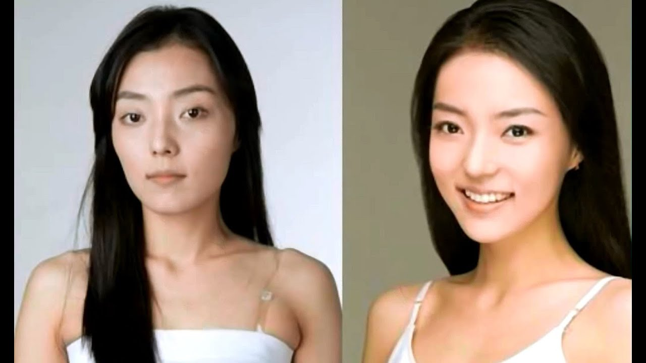 Celebrity pictures before and after makeup chinese