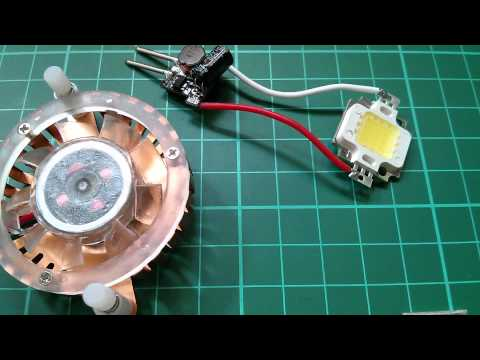 Led Tutorial Light A 10w Led From 12v Simple Amp Cheap