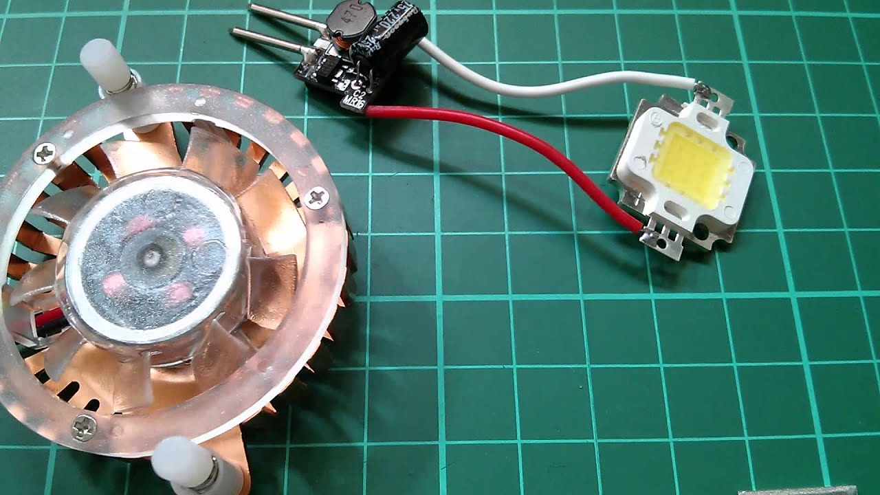 led tutorial light a 10w led from 12v simple cheap [ 1280 x 720 Pixel ]