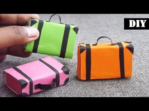 Miniature Suitcase | Easy Dollhouse Furniture - Howto