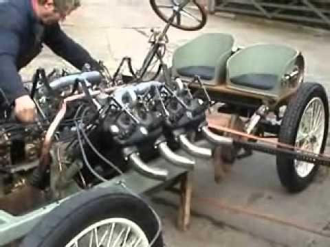 Darracq V8 engine - first attempt to start the engine in 97 years
